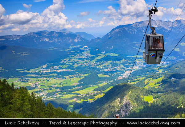 Europe - Germany - Deutschland - Bavaria - Bayern - Berchtesgaden National Park - Jenner Mountain near Königssee Lake - Spectacular alpine landscape from famous view point reached by Jennerbahn cable car