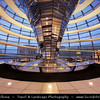 Germany - Berlin - Reichstag - Parliament - Seat of the German Parliament - One of Berlin's most historical landmarks - Dome of the The Reichstag - Large glass dome at the very top of the building - Dome has a 360-degree view of the surrounding Berlin cityscape<br /> <br /> Camera Model: Canon EOS 5D Mark II; Lens: 17.00 - 40.00 mm; Focal length: 19.00 mm; Aperture: 4.0; Exposure time: 1/20 s; ISO: 1250
