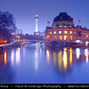 Germany - Berlin - Capital City - Bode Museum at the northern tip of Museum Island at Dusk - Blue Hour<br /> <br /> Camera Model: Canon EOS 5D Mark II; Lens: 17.00 - 40.00 mm; Focal length: 36.00 mm; Aperture: 8.0; Exposure time: 32.0 s; ISO: 100