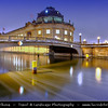 Germany - Berlin - Capital City - Bode Museum at the northern tip of Museum Island at Dusk - Blue Hour<br /> <br /> Camera Model: Canon EOS 5D Mark II; Lens: 17.00 - 40.00 mm; Focal length: 17.00 mm; Aperture: 7.1; Exposure time: 32.0 s; ISO: 320