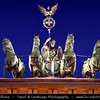 Germany - Berlin - Capital City - Brandenburg Gate with Quadriga on top at Dusk - Blue Hour<br /> <br /> Camera Model: Canon EOS 5D Mark II; Lens: 70.00 - 200.00 mm; Focal length: 150.00 mm; Aperture: 4.0; Exposure time: 1/80 s; ISO: 3200