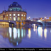 Germany - Berlin - Capital City - Bode Museum at the northern tip of Museum Island at Dusk - Blue Hour<br /> <br /> Camera Model: Canon EOS 5D Mark II; Lens: 17.00 - 40.00 mm; Focal length: 24.00 mm; Aperture: 7.1; Exposure time: 32.0 s; ISO: 250