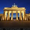 Germany - Berlin - Brandenburger Tor during Dusk - Twilight - Blue Hour - Night<br /> <br /> Camera Model: Canon EOS 5D Mark II; Lens: 17.00 - 40.00 mm; Focal length: 22.00 mm; Aperture: 20; Exposure time: 32.0 s; ISO: 100