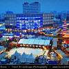 Europe - Germany – Deutschland - Berlin – Capital City - Alexanderplatz -  Public square & transport hub in heart of the central Mitte district, under the iconic TV Tower, near the Fernsehturm - Traditional Christmas Markets<br /> <br /> Camera Model: Canon EOS 5D Mark II; Lens: 24.00 - 105.00 mm; Focal length: 40.00 mm; Aperture: 11; Exposure time: 6.0 s; ISO: 100