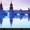 Europe - Germany – Deutschland - Berlin – Capital City - Oberbaum Bridge – Oberbaumbrücke – Double-deck bridge crossing Berlin's River Spree – One of the city landmarks<br /> <br /> Camera Model: Canon EOS 5D Mark II; Lens: 24.00 - 105.00 mm; Focal length: 75.00 mm; Aperture: 22; Exposure time: 32.0 s; ISO: 100