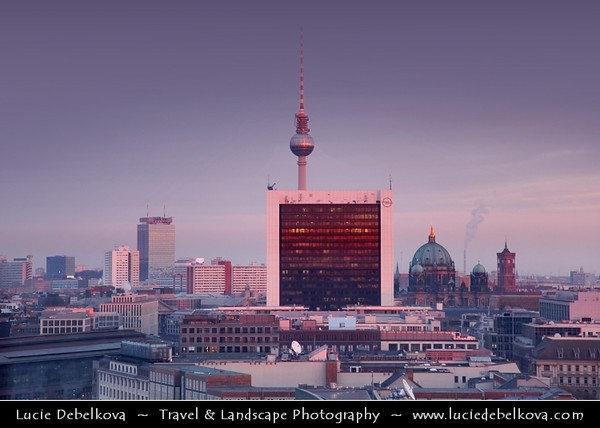 Germany - Berlin - Reichstag - Parliament - Seat of the German Parliament - One of Berlin's most historical landmarks - View from Dome - 360-degree view of the surrounding Berlin cityscape<br /> <br /> Camera Model: Canon EOS 5D Mark II; Lens: 24.00 - 105.00 mm; Focal length: 105.00 mm; Aperture: 4.0; Exposure time: 1/30 s; ISO: 250