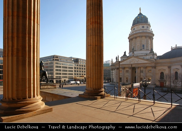 Germany - Berlin - Gendarmenmarkt - Square & site of the Konzerthaus and the French - Französischer Dom and German Cathedrals - Deutscher Dom<br /> <br /> Camera Model: Canon EOS 5D Mark II; Lens: 17.00 - 40.00 mm; Focal length: 21.00 mm; Aperture: 13; Exposure time: 1/60 s; ISO: 100
