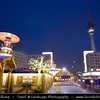 Europe - Germany – Deutschland - Berlin – Capital City - Alexanderplatz -  Public square & transport hub in heart of the central Mitte district, under the iconic TV Tower, near the Fernsehturm - Traditional Christmas Markets<br /> <br /> Camera Model: Canon EOS 5D Mark II; Lens: 16.00 - 35.00 mm; Focal length: 20.00 mm; Aperture: 11; Exposure time: 13.0 s; ISO: 100