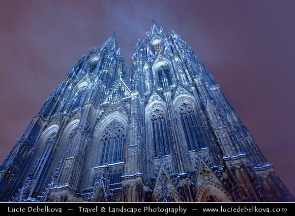 Germany - North Rhine-Westphalia - Cologne - Köln - Cologne Cathedral - Kölner Dom - Hohe Domkirche St. Peter und Maria - Roman Catholic church - Symbol of Cologne