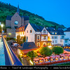 Europe - Germany - Deutschland - Rhineland-Palatinate - Mosel wine region - Cochem - Historical town on banks of river Moselle - Cochem Imperial Castle - Reichsburg Cochem -Largest hill-castle on the Mosel