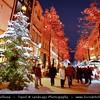 Germany - North Rhine-Westphalia - Cologne - Köln - Christmas market - Christkindlmarkt - Christkindlesmarkt - Christkindlmarket - Weihnachtsmarkt at Night under Heavy snow fall