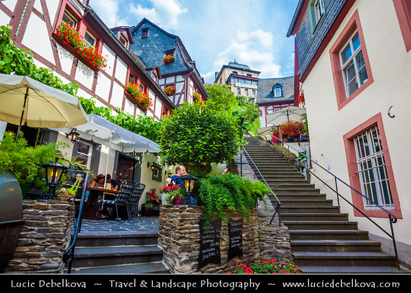 Europe - Germany - Deutschland - Rhineland-Palatinate - Mosel wine region - Beilstein - Historical town on banks of river Moselle