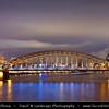 Germany - North Rhine-Westphalia - Cologne - Köln - The Hohenzollernbrücke - Hohenzollern bridge over River Rhine