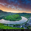 Europe - Germany - Deutschland - Rhineland-Palatinate - Mosel wine region - Bremm - Famous bend of river Moselle