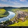 Europe - Germany - Deutschland - Rhineland-Palatinate - Mosel wine region - Bremm - Famous bend of river Moselle
