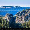 Europe - Germany - Deutschland - Saxony - Sachsen - Saxon Switzerland National Park - Sächsische Schweiz - Hilly climbing area around the Elbe valley - Elbe/Labe Sandstone Mountains - Bizarre & intriguing landscape with huge, smooth rocks & deep, narrow valleys & gorges
