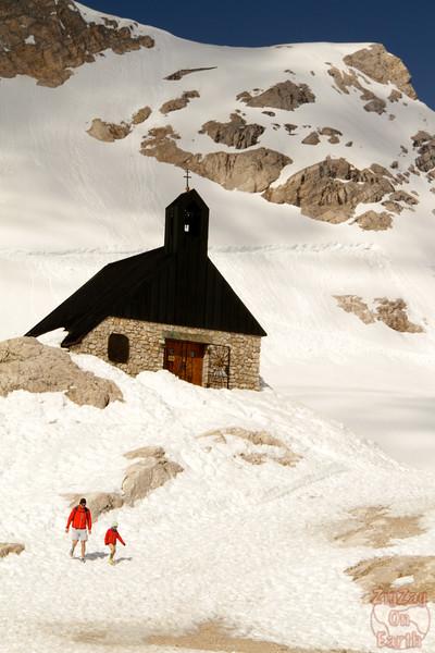 Church at Zugspitze glacier