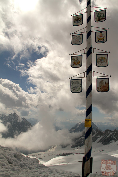 View from Zugspitze glacier 4