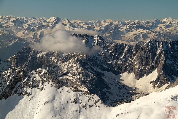 Views from platform Zugspitze Germany 1