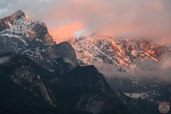 Sunset Garmisch Partenkirchen 2