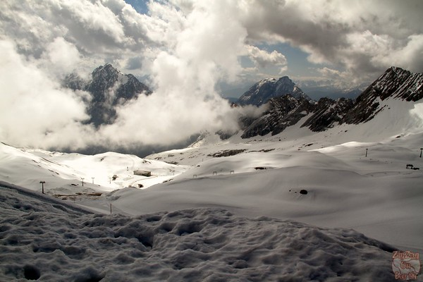 View from Zugspitze glacier 3