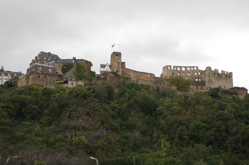 Rheinfels fortress, which sits on top of township of St Goar.