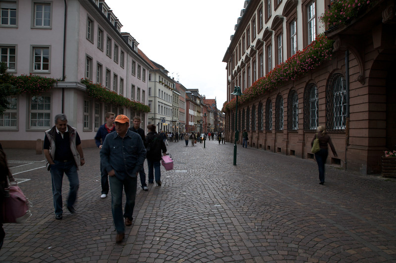 Walking towards the town centre