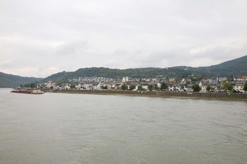 One of the many towns along the Rhine river