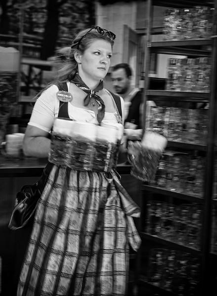 Waitress at Oktoberfest
