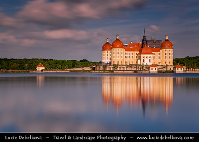 Europe - Germany - Deutschland - Saxony - Sachsen - Schloss Moritzburg - Moritzburg Castle - Baroque palace built on island in the middle of lake