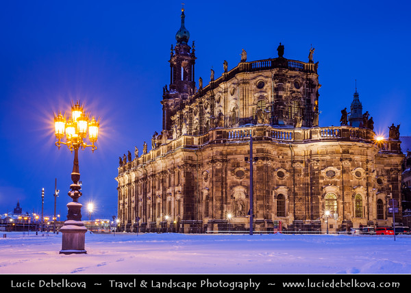 Germany - Saxony - Sachsen - Dresden - White Christmas Atmosphere during Cold Winter Days