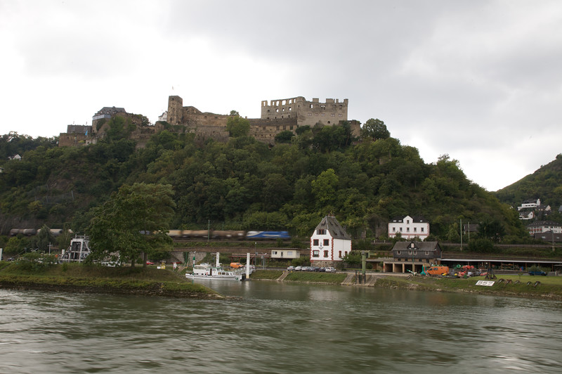 One of the many beautiful castles along the Rhine river