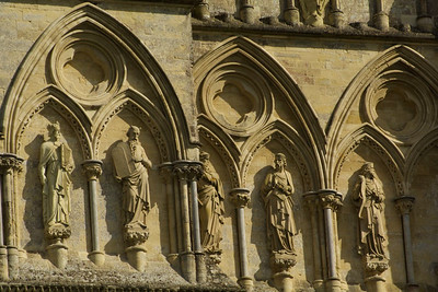 Frieze on Salisbury Cathedral