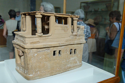 A clay model of a house - also almost 5000 years old!