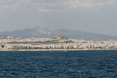 As we sailed from the port of Zea, we could see Athens with the Parthenon and the hill of Lykavittos in the distance.
