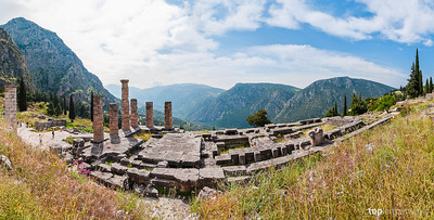 Temple of Apollo at Delphi.