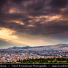 Athens - Αθήνα - Athína - Athine - Capital & largest city of Greece - Dramatic Sunset over the City