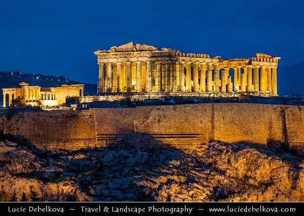 Athens - Αθήνα - Athína - Athine - Capital & largest city of Greece - Acropolis of Athens - Citadel of Athens - UNESCO World Heritage Site - The Parthenon - Παρθενών - Main temple in Athenian Acropolis, dedicated to Greek goddess Athena