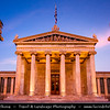 Athens - Αθήνα - Athína - Athine - Capital & largest city of Greece - Academy of Athens during Dusk / Twilight / Blue Hour