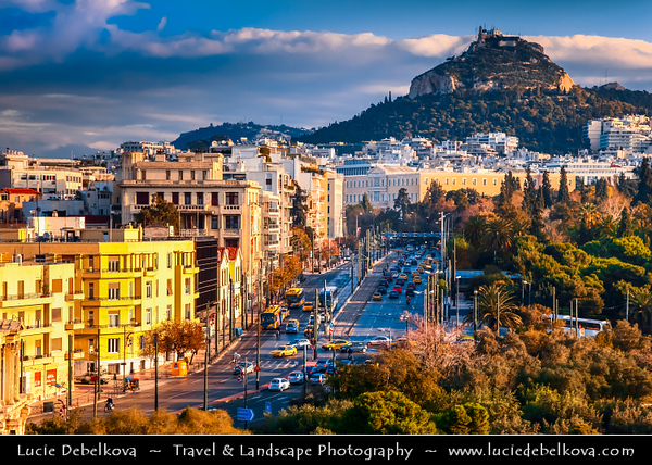Athens - Αθήνα - Athína - Athine - Capital & largest city of Greece - Athens Cityscape & Mount Lycabettus - Lykavittos
