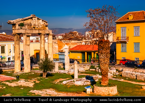 Athens - Αθήνα - Athína - Athine - Capital & largest city of Greece - Ancient Agora of Athens - Forum of Athens - Best-known example of an ancient Greek agora, located to the northwest of the Acropolis