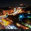 Athens - Αθήνα - Athína - Athine - Capital & largest city of Greece - Evening over Athens Cityscape & Mount Lycabettus - Lykavittos