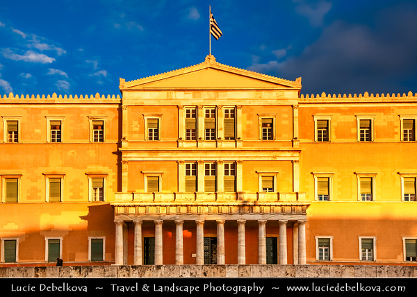 Athens - Αθήνα - Athína - Athine - Capital & largest city of Greece - Parliament building on Syntagma Square / Plateia Syntagmatos
