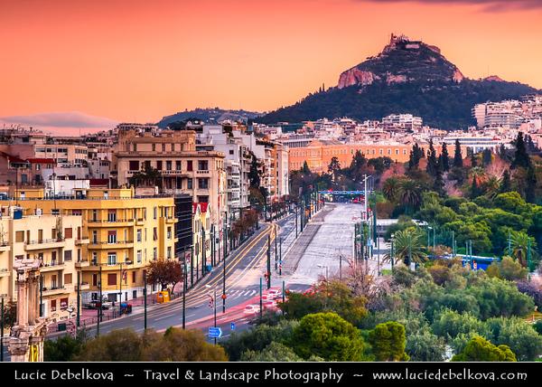 Athens - Αθήνα - Athína - Athine - Capital & largest city of Greece - Athens Cityscape & Mount Lycabettus - Lykavittos