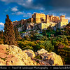 """Athens - Αθήνα - Athína - Athine - Capital & largest city of Greece - The Acropolis of Athens or Citadel of Athens - UNESCO World Heritage Site - Temple of Athena Nike - Nike means """"victory"""" in Greek - Athena was worshiped in this form, as goddess of victory in war"""