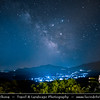 Southern Europe - Greece - Peloponnese peninsula - Palaia Epidavros - Archaia Epidauros - Small historal town & ancient city of Epidauros between two bays on coast of Saronic gulf - Night Sky with Milky Way