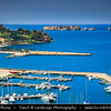 Southern Europe - Greece - Peloponnese peninsula - Pylos - Pilos - Historical seaside town & harbour on Bay of Navarino with Neokastro fortress