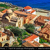 Southern Europe - Greece - Peloponnese peninsula - Monemvasia island - Large impressive plateau 100 metres above sea level with medieval fortress & historical castle town with many Byzantine churches