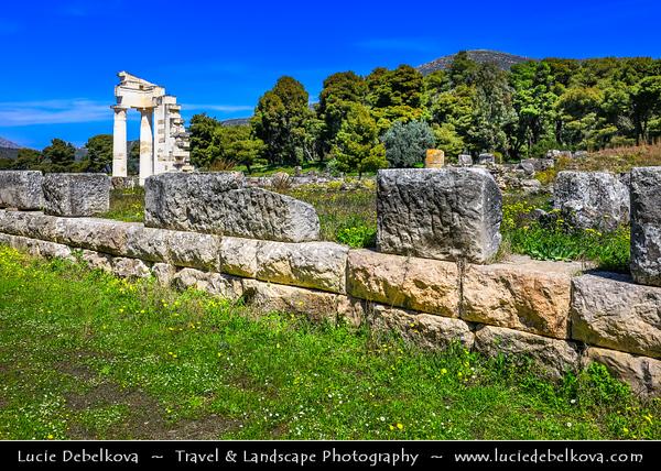 Southern Europe - Greece - Peloponnese peninsula - Epidavros - Epidauros - Ancient city of Epidauros - UNESCO World Heritage Site - Sanctuary of Asklepios - Site of healing in Ancient World