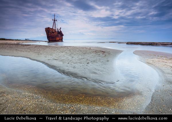 Southern Europe - Greece - Peloponnese peninsula - Gythio - Gíthion - Dimitrios shipwreck on Valtaki sandy beach